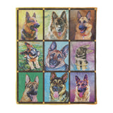 Lovely German Shepherd Fleece Blanket - Mother gift idea dog lover gift