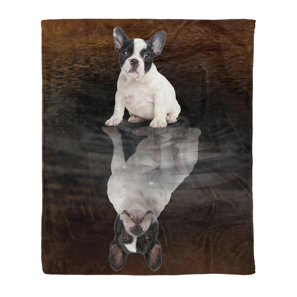 French Bulldog Dreaming Fleece Blanket, Unique Gifts For Dog Lovers, Best Friend, Parents