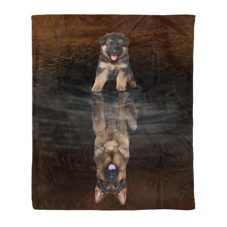 You Are Stronger Than You Think German Shepherd - Dog fleece blanket dog lover gift idea pet lover gift