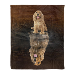 You Are Stronger Than You Think English Cocker Spaniel - Dog fleece blanket dog lover gift idea pet lover gift