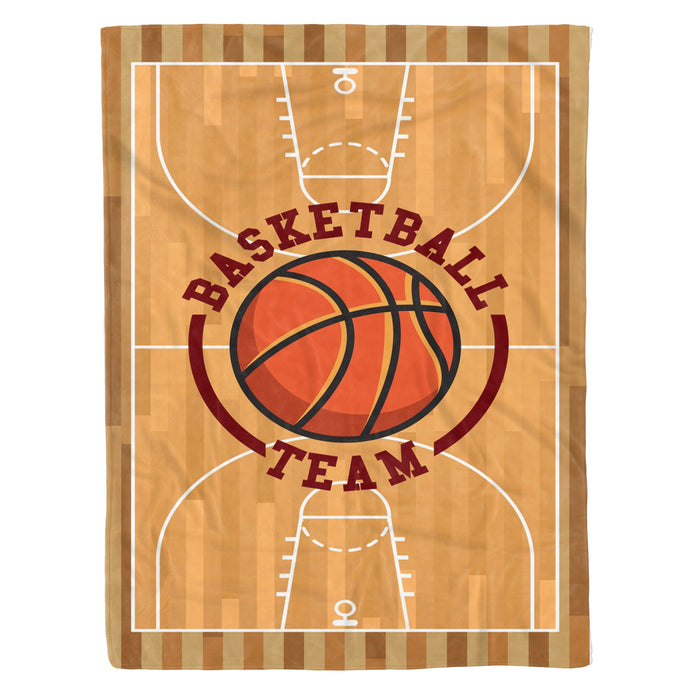 Fleece Blanket Mother's day Father's day unique gift ideas for mom & dad from daughter & son kids, meaningful birthday presents -  Basketball Team Fleece Blanket