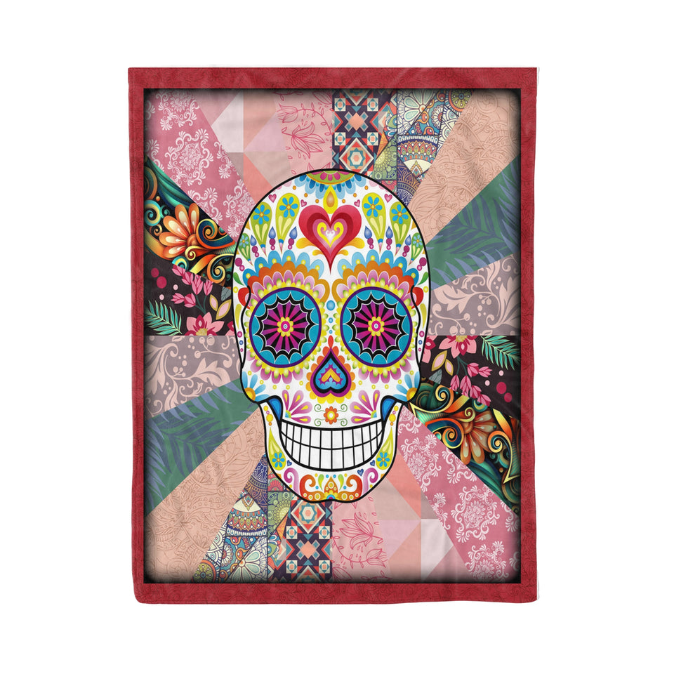 Day Of The Dead Skull - Skull fleece blanket skull lover gift day of the dead gift idea