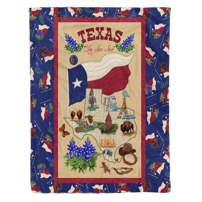 Fleece Blanket Mother's day Father's day unique gift ideas for mom & dad from daughter & son kids, meaningful birthday presents -  Texas Lone Star State Fleece Blanket