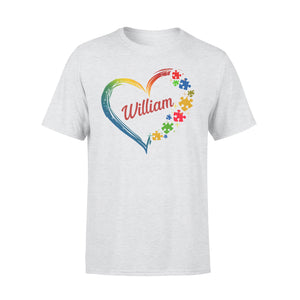 Custom personalized autism mom Tee shirts printing mother's day, birthday gift for world's best mom - Autism Heart - Personalizedwitch