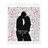 Custom personalized fleece blanket couple husband and wife gifts idea, Christmas, wedding anniversary birthday presents for loved one - Custom Family You Are Mine Fleece Blanket - PersonalizedWitch