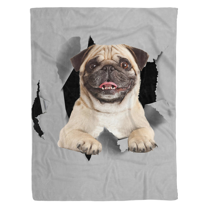 Fleece Blanket Mother's day Father's day unique gift ideas for mom & dad from daughter & son kids, meaningful birthday presents -  Pug Fleece Blanket - Dog lovers, dog gift, birthday gift, pet, pet lovers animal