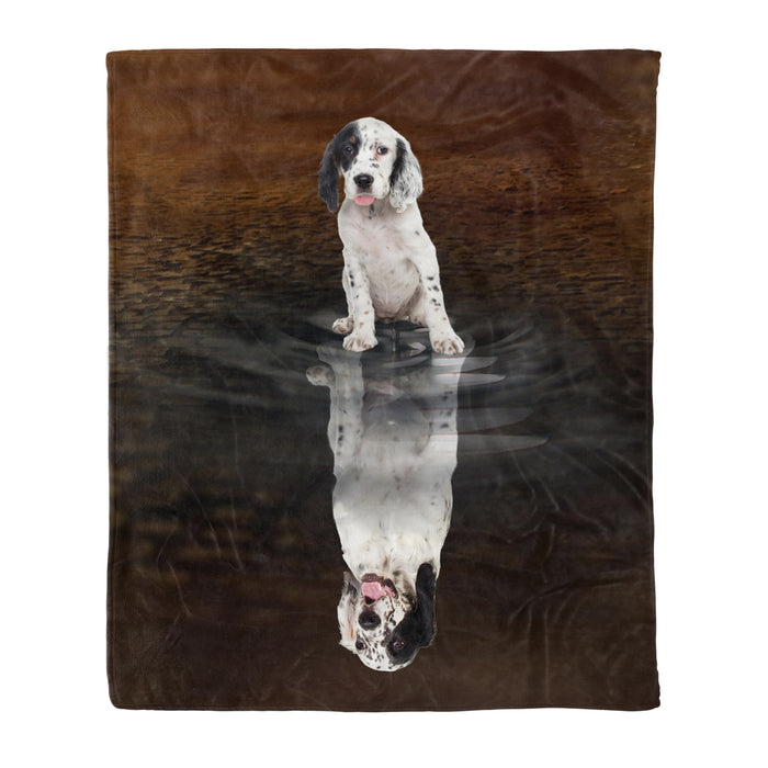Fleece Blanket Mother's day Father's day unique gift ideas for mom & dad from daughter & son kids, meaningful birthday presents -  You Are Stronger Than You Think English Setter - Dog fleece blanket dog lover gift idea pet lover gift