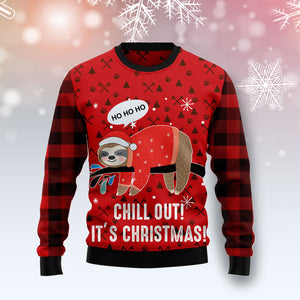 Sloth Chill Out T2010 Ugly Christmas Sweater