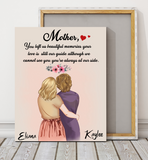 Mother Always At Our Side - Personalized Canvas, unique gifts for mom gifts, mother day.