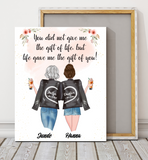 Custom personalized canvas prints wall art Mother's day gifts idea, best Christmas, birthday presents for mother in law - Mother-in-law Gift of Life - PersonalizedWitch