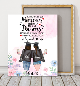 Custom Personalized best friends canvas Bestie friendship printing gift for sisters - Best Friend Graduation Day We Did It - PersonalizedWitch