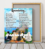 Custom personalized cat memorial canvas print wall art Pet remembrance canvas gifts for cat mom dad pet lovers - Remembering Cats - PersonalizedWitch