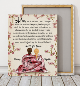 Custom personalized canvas prints wall art Mother's day gifts idea, Christmas, birthday presents for mom from daughter - Thank You, My Great Mom - PersonalizedWitch