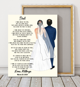 Custom personalized Father & Daughter canvas Birthday gift ideas, christmas gifts Father's day gifts ideas for dad presents for special man memorial custom gift canvas - Dad, My Love For You Will Stay  - PersonalizedWitch