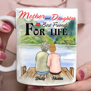 Custom personalized coffee mugs Mother's day gifts idea, Christmas, birthday presents for mom from daughter - Mother Daughter Best Friends For Life - PersonalizedWitch