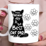 Personalized custom cat & owner coffee mugs gift for cat mom dad pet lovers, cat lovers - Best Cat Dad