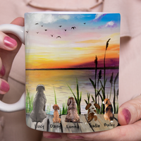 Custom personalized dog & owner coffee mugs gift for dog mom dad pet lovers, dog lovers - Friends - PersonalizedWitch