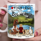 Custom personalized horse & owner coffee mugs gift for horse mom dad pet lovers, horse lovers - Four Legs Big Hearts Dog And Horse