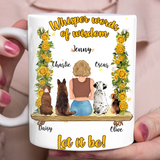 Custom personalized coffee mugs Father's day gifts idea, Christmas, birthday presents for dad from daughter - Sunflower Let It Be - PersonalizedWitch
