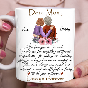 Custom personalized coffee mugs Mother's day gifts idea, Christmas, birthday presents for mom from daughter - Mom Love You Forever - PersonalizedWitch