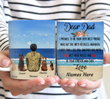 Dear Dog Dad Army - Personalized custom dog mug holiday mug dog lover gift idea family gift