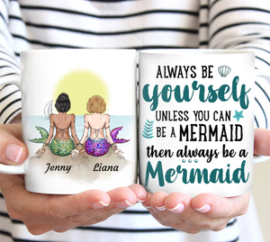 Friends Mermaid - Personalized custom friend mug sister mug friendship gift idea family gift