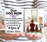 Dog Mom - Personalized custom dog mug holiday mug dog lover gift idea family gift