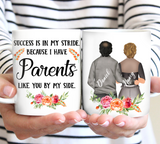 Custom personalized coffee mugs Father's day gifts idea, Christmas, birthday presents for dad from daughter - World's Best Mom and Dad - PersonalizedWitch