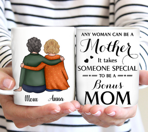 Custom personalized coffee mugs Mother's day gifts idea, Christmas, birthday presents for mom from daughter - Special Bonus Mom - PersonalizedWitch