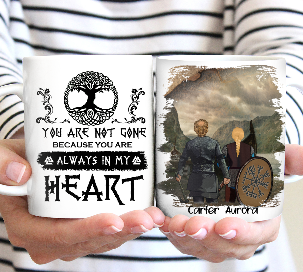You Are Always In My Heart - Personalized Mug, Perfect Gift for Couple, Husband or Wife Gift