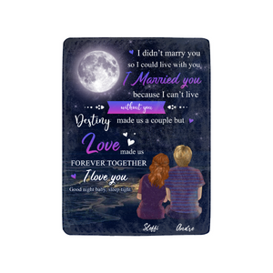 Custom personalized fleece blanket couple husband and wife gifts idea, Christmas, wedding anniversary birthday presents for loved one - Love Made Us Forever Together I Love You - PersonalizedWitch