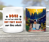 Dogs Are Our Whole Life - Personalized custom dog mug Pet mug Mother gift idea dog lover gift