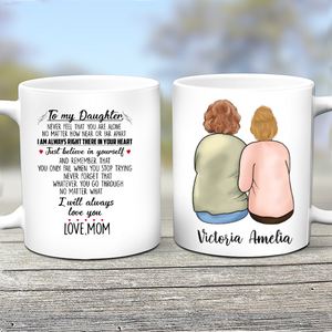 Custom personalized coffee mugs Mother's day gifts idea, Christmas, birthday presents for mom from daughter - Mom Always Lover Her Daughter - PersonalizedWitch