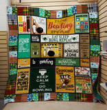 Fun And Good Game Bowling Quilt Blanket