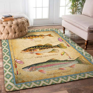 Big Fishing Rectangle Rug
