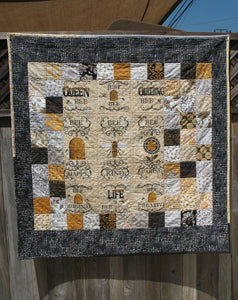 Happy Bee Life Quilt Blanket
