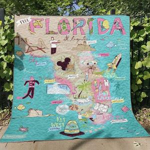 The Sunshine State Florida Quilt Blanket 26