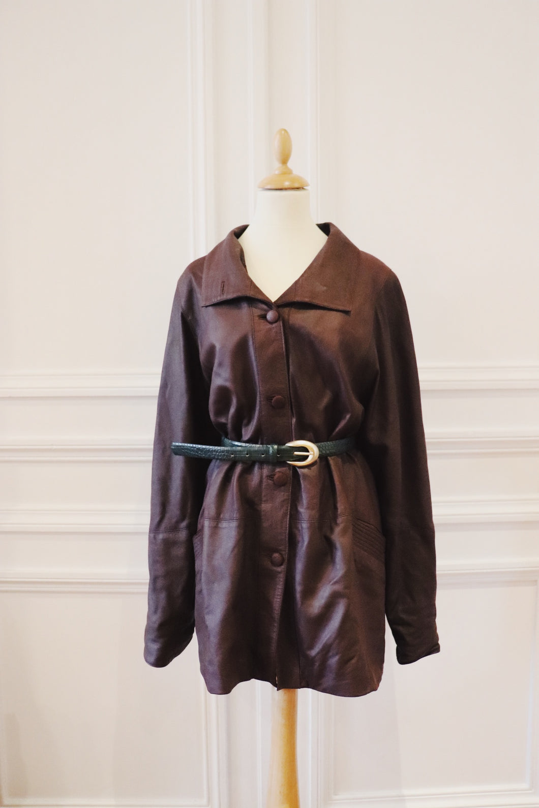 Trench coat cuir