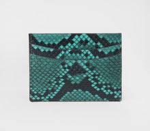 Load image into Gallery viewer, Luxury Python Skin Card Holder - Emerald