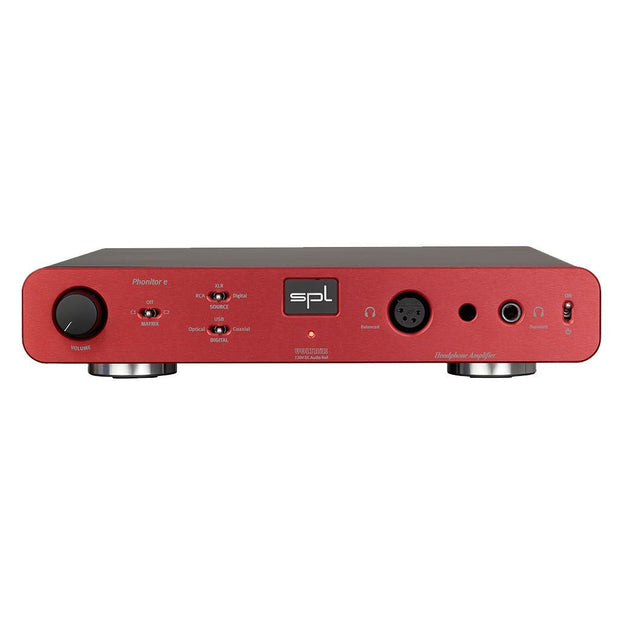SPL Phonitor E Headphone Amp Headphone Amplifiers SPL Red Without DAC