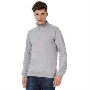 Sweat-shirt à col zippé