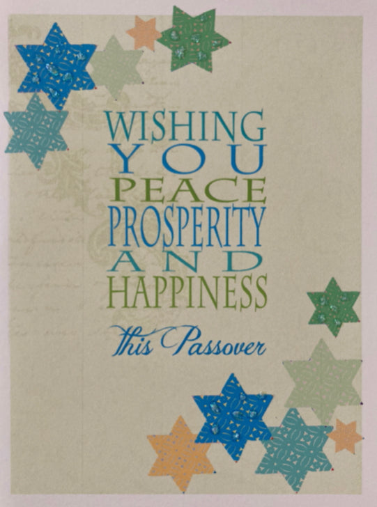 Passover - Peace, Prosperity and Happiness