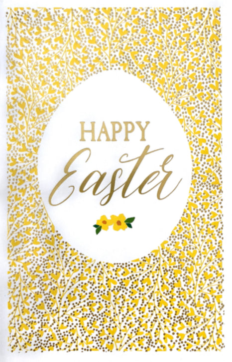 Easter - Yellow Floral Egg