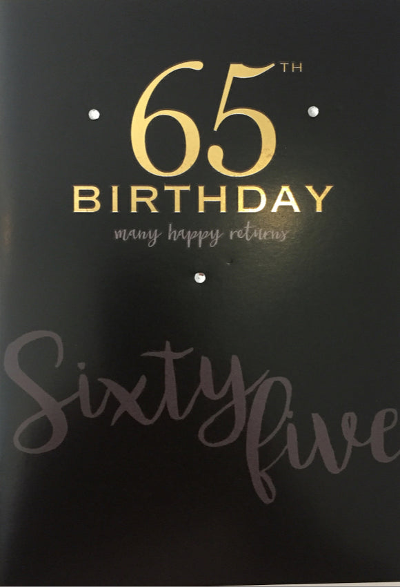 Age Specific - 65th Birthday Many Happy Returns