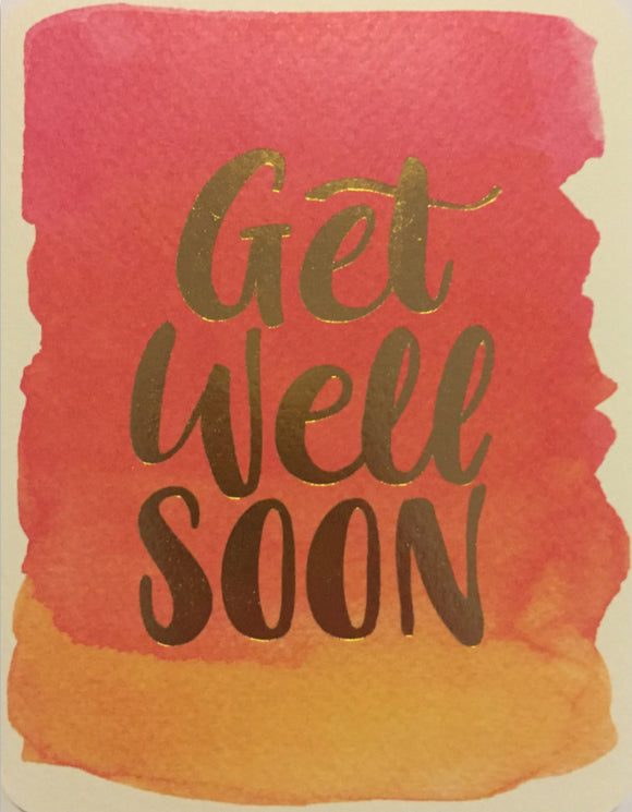 Get Well - Pink Watercolour