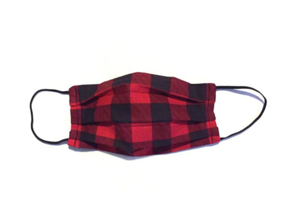 Adult Flat Face Mask - Plaids & Stripes & Polka Dots