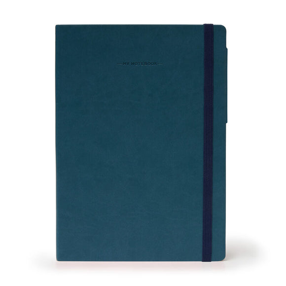My Notebook Extra Large Lined - Petrol Blue