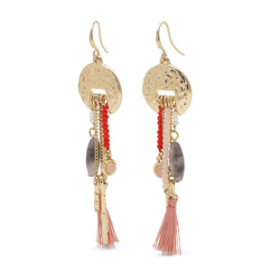 Pilgrim Rumi Statement Earrings: Gold