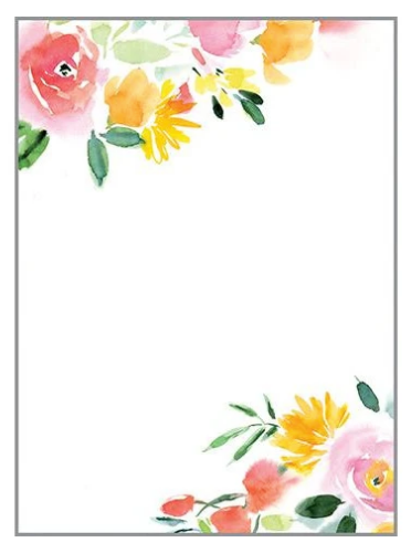 Mini Notepad - Red & Yellow Roses