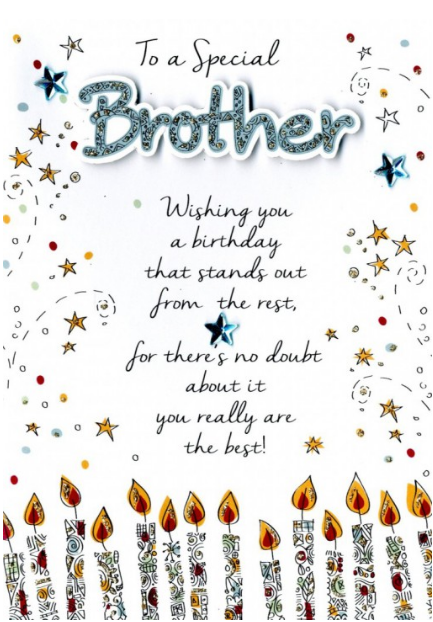 Birthday Relative Specific - Brother